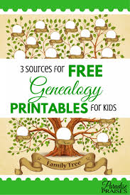 Making A Family Tree For Free 3 Sources For Free Genealogy Printables For Kids Family