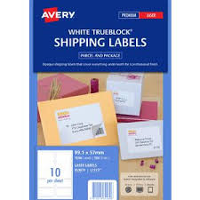 Avery 10 Per Page Labels Avery Laser Shipping Labels 10up 100 Sheets Officeworks