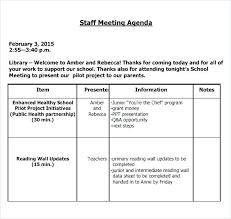 Meeting Agenda Sample Doc Gorgeous School Meeting Minutes Templates Doc Free Premium Format Template Staff