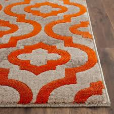 grey and orange area rug attractive amazing roselawnlutheran in gray throughout 3