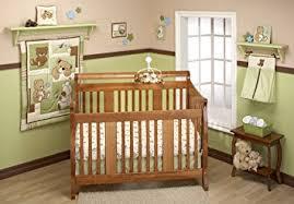 teddy bear crib sheet amazon com little bedding by nojo dreamland teddy uni 10 piece