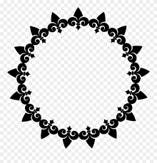 Big Image Sun Of Flower Tattoo Black And White Clipart 8118