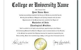 University Diploma Template Certificate Graduation Sample