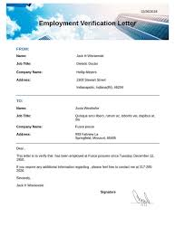 Letter Employment Verification Employment Verification Letter Template Pdf Templates