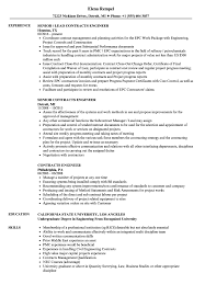 Example Engineering Resume Contracts Engineer Resume Samples Velvet Jobs 22
