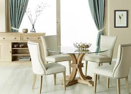 Round glass dining table 80cm Cbm 06020 Doma Kitchen Cafe Devon 54