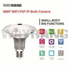 New Mini Lamp Wifi Camera 960p Hd Bulb Light Wireless Ip Camera 360