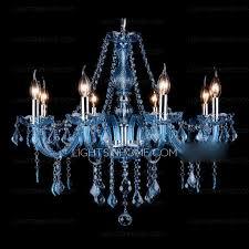 gorgeous 8 light chandelier blue k9 crystal for living room