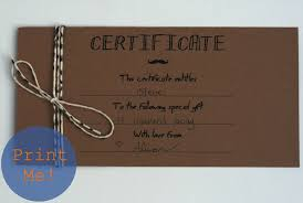 Homemade Gift Certificate Templates diy gift certificates Besikeighty24co 1