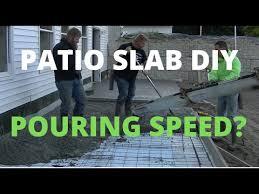 concrete patio diy pour how fast do