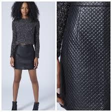 74% off Topshop Dresses & Skirts - TopShop Black Quilted Stitch ... & TopShop Black Quilted Stitch Faux Leather Skirt Adamdwight.com