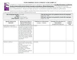Professional Schedule Template Professional Improvement Plan Template