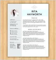 Free Resume Template Design Word Creative Templates Microsoft