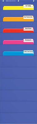 Scholastic Classroom Resources File Organizer Pocket Chart