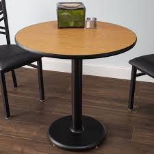 lancaster table and seating standard height table with 30 round reversible walnut oak table top and
