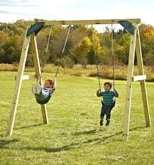 basic swing set excellent small decor yard wooden plans diy free wood sm