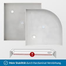 Duschwanne Viertelkreis R55 Aquabad Norma Plus 80 90 Cm