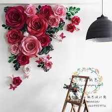 Paper Flower Background Wedding Wedding Stage Background Flower Wall Wedding Photography Shooting Paper Flowers Props Brand Promotion Activities Creative Paper Flowers