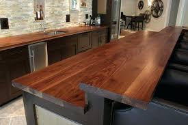 bar top ideas bar top ideas basement kitchen island with raised bar plank  style walnut counter