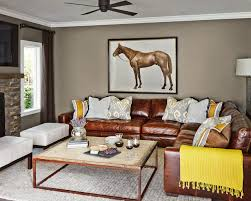 Leather Sectional Living Room Living Room Ideas With Leather Sectional Image Info