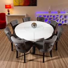 53 round dining table set for 8 handsome luxury large black