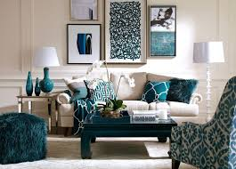 Teal Accent Home Decor Decorations White Couch Allows Art And Peacock Blue And Teal 3