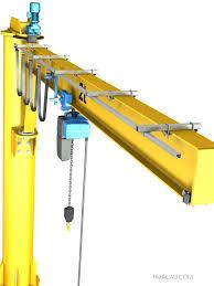 Zip Crane Design Jib Crane Design Cad Drawings And 3d Models For Download