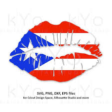 Your decal will arrive ready to apply with full simple. Puerto Rico Flag Lips Svg Png Dxf Cut Files Kyodigitalstudio Com