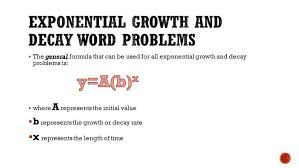 exponential relations ppt equations word problems worksheet exponentialgrowthanddecaywordpro exponential word problems worksheet worksheet
