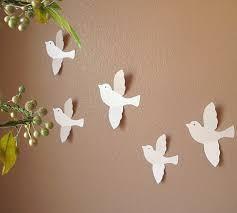 handmade wall decor best attractive design for decoration ideas fascinating white bird fly cute handmade wall decor