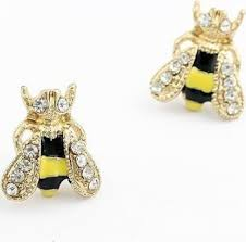 1 pair lovely ear stud rhinestone