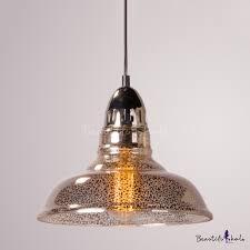 industrial hanging pendant light with barn shape mercury glass shade for indoor outdoor lighting