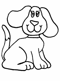 Small Picture Simple Animal Coloring Pages Simple dog coloring page applique