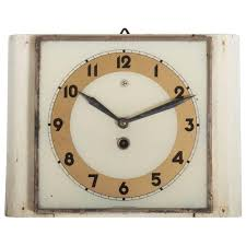 czech art deco wall clock from chomutov