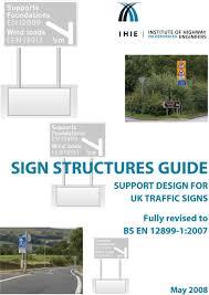 Traffic Sign Foundation Design Sign Structures Guide Support Design For Uk Traffic Signs