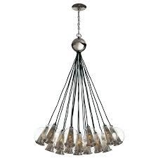 chandelier dallas tx home caviar adj brown nickel smoke glass bouquet chandelier porter lighting dallas tx