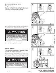 bobcat 641 642 b 643 operation & maintenance manual owners 6570241 Bobcat Hydraulic Diagram bobcat 641 642 b 643 operation & maintenance manual owners 6570241 skid steer ebay