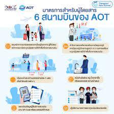 มาตรการสำหรับผู้โดยสาร ทั้ง 6 สนามบินของ AOT - Airports of Thailand