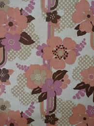 Roze En Bruine Bloemen Vintage Behang Funkywalls Dé Webshop Voor