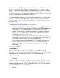 Objective Statement For Administrative Assistant Resume Best Administrative Assistant Resume Objective By Chris