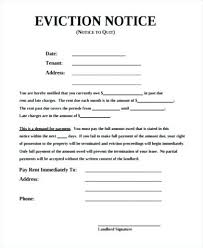 Free Printable Eviction Notice Template Unique Simple Eviction Notice Sample 44 Free Documents In Standard Letter 44