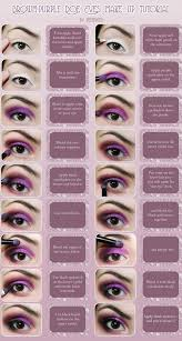 brown purple doe eyes make up tutorial by hed y