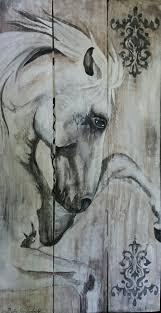Pallet Art Equine Art Horse Painted On Pallet Wood Artist Debra Faul Equine