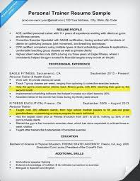 Personal Trainer Resume Template Adorable Personal Trainer Resume Sample Writing Tips Resume Companion