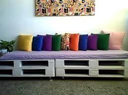 Cama Balinesa Para Terraza Con Cojines Y Palets 166 X 206 Cm Sofa Cama Con Palets