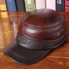 2018 spring man genuine leather baseball caps male casual cowhide hat ears warm adjustable hats 3