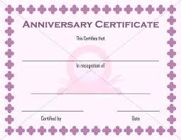 Anniversary Certificate Template Classy Employee Anniversary Certificate Template Best Work Gift Certifica