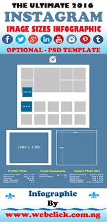 best size for instagram best size for infographic softwaremonster info