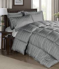 grey goose down comforter. Beautiful Comforter Amazoncom Chezmoi Collection 300 Thread Count Cotton Plaid Goose Down  Alternative Comforter Set King Black Home U0026 Kitchen Throughout Grey X