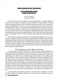 college essay pdf format  college admission essay example